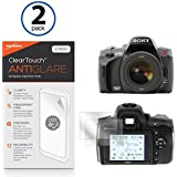 Sony Alpha DSLR-A380L Screen Protector, BoxWave [ClearTouch Anti-Glare (2-Pack)] Anti-Fingerprint Matte Film Skin for Sony Alpha DSLR -A380L