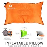 Camping Pillow by Inspired Equipment | Compressible & Portable | Best Camping Gear For Adults & Kids |