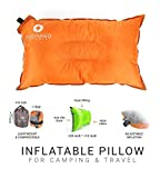 Camping Pillow by Inspired Equipment | Compressible & Portable | Best Camping Gear For Adults & Kids | (Orange)
