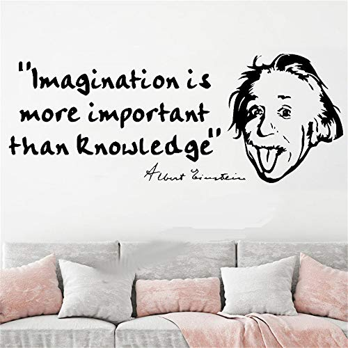 Fioils Vinyl Wall Lettering Stickers Quotes and Saying Albert Einstein Wall Quote Sticker Decal Inspirational Quotes Stickers ()