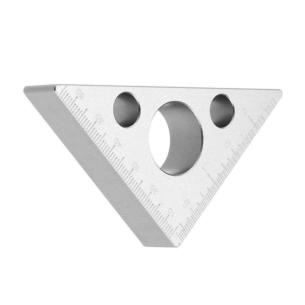 Aluminium-Dreieck-Lineal aus Aluminiumlegierung 150mm 68mm 2 St/ück quadratisches gerades Lineal Tischler-Messwerkzeug Winkel-Winkelmesser f/ür Holzbearbeitungswerkzeug
