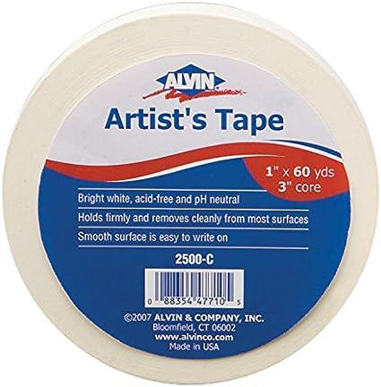 """ALVIN 2500-C ARTIST'S TAPE 1/"""" X 60YDS"""