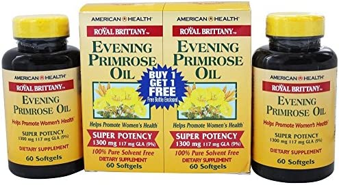 American Health Royal Brittany Evening Primrose Oil Super Potency 60 60 Twin Pack Special 120 Softgel