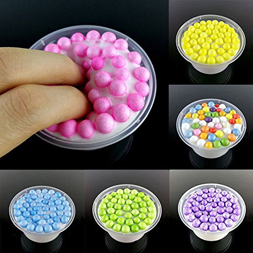 Price comparison product image ANGELS--Kids Anti Stress Cotton Candy Toys Butter Glitter Beads Fluffy Floam Slime Hot