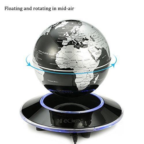 Floating Globe Magnetic Levitation Rotating World Map Globe With LED Light Decor