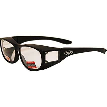 a92216e777 Amazon.com  Escort Over Glasses Clear Lens Safety Glasses Has Matching Side Lens  Meets ANSI Z87.1-2003 Standards for Safety Eyewear  Automotive