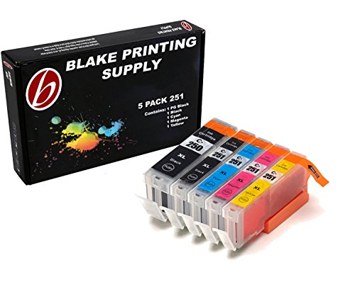 - Blake Printing Supply 5 Pack Compatible Ink Cartridges for PIXMA MG5520