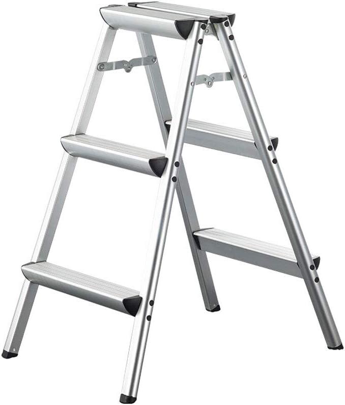 Escalera plegable de aluminio 2 Pasos 3 Pasos Escalera 4 pasos Escalera para el hogar Escalera interior para herramientas (Size : 84 * 62 * 47cm): Amazon.es: Bricolaje y herramientas