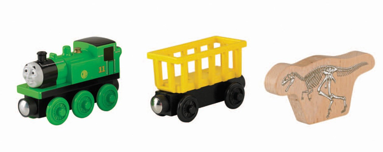 Tale of The Brave Fisher-Price Thomas /& Friends Wooden Railway Olivers Fossil Freight 2-Pack