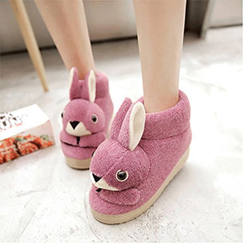Bootie Rabbit Purple Cartoon Anti House Cute Indoor GIY Slippers Slipper Slippers slip Plush Cozy Womens Winter gqIZwC6