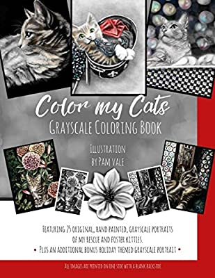 Color my Cats Grayscale Coloring Book