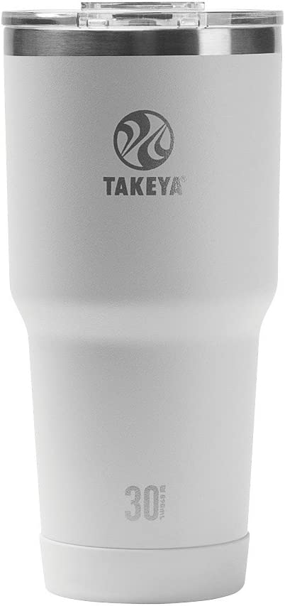 Takeya Actives Insulated Stainless Tumbler with Flip Lid, 30oz, Arctic