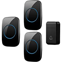 Self-Powered Wireless Doorbell, 3 Volumes, 38 Melody Options, 200M Remote Doorbell Kit, 1 Button and 3 Receivers, IP44…