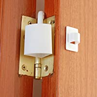 CADETBLUE. Baby's Metal Safety Door Hinge Lock for Finger Pinch Protector (White)