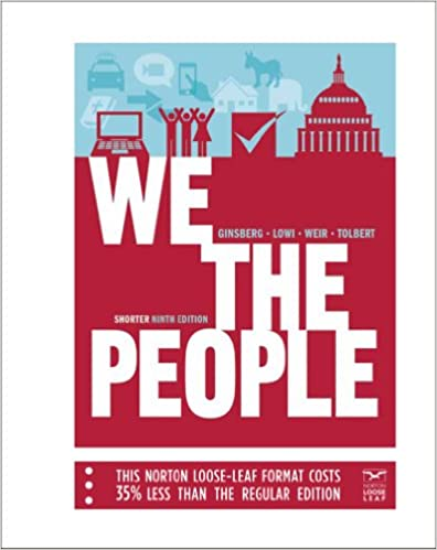 We The People An Introduction To American Politics Shorter
