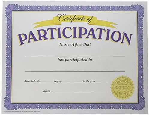 TREND enterprises, Inc. Certificate of Participation Classic Certificates, 30 ct