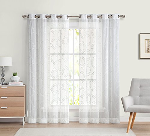 Collections Naples Embroidered Grommet Curtains product image