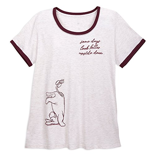 Ladies Heathered Ringer Tee - Disney Eeyore Ringer T-Shirt for Women - Winnie The Pooh - Plus Size Size Ladies 3XL Multi