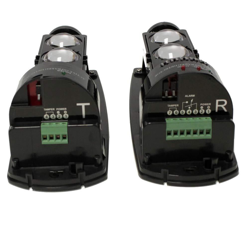 Barrera de Infrarrojos para Alarma compacta de 3 Rayos para Distancia de 200m a 250m BeMatik