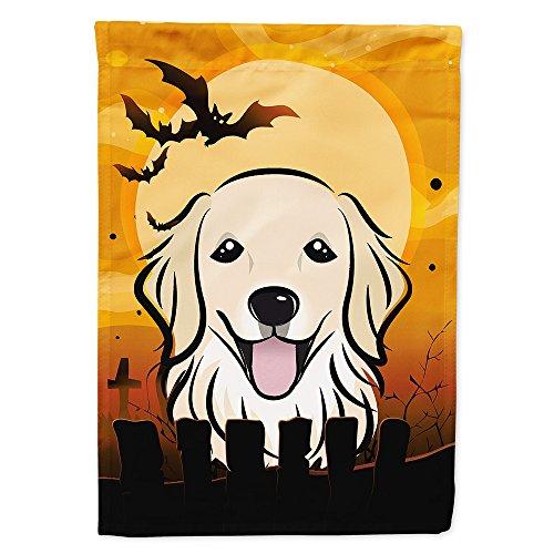 (Caroline's Treasures BB1763CHF Halloween Golden Retriever Canvas House Size Flag, Multicolor, Large)