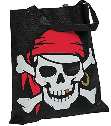 Pirate Tote Bag great for Trick or Treat on Halloween -