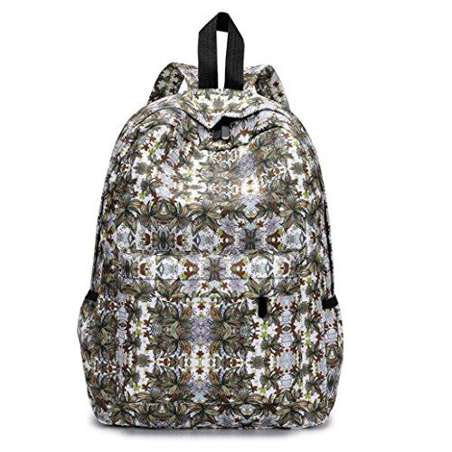 BCDshop Women Backpacks Rucksack College Schoolbag Lady Travel Backpack Bookbags,Floral (J) by BCDshop Backpack