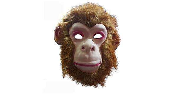 PromMask Mascara Facial Careta Protector de Cara dominó Frente Falso Animal máscara león Lobo Tigre orangután Mono Leopardo niño Juguete Mono: Amazon.es: ...