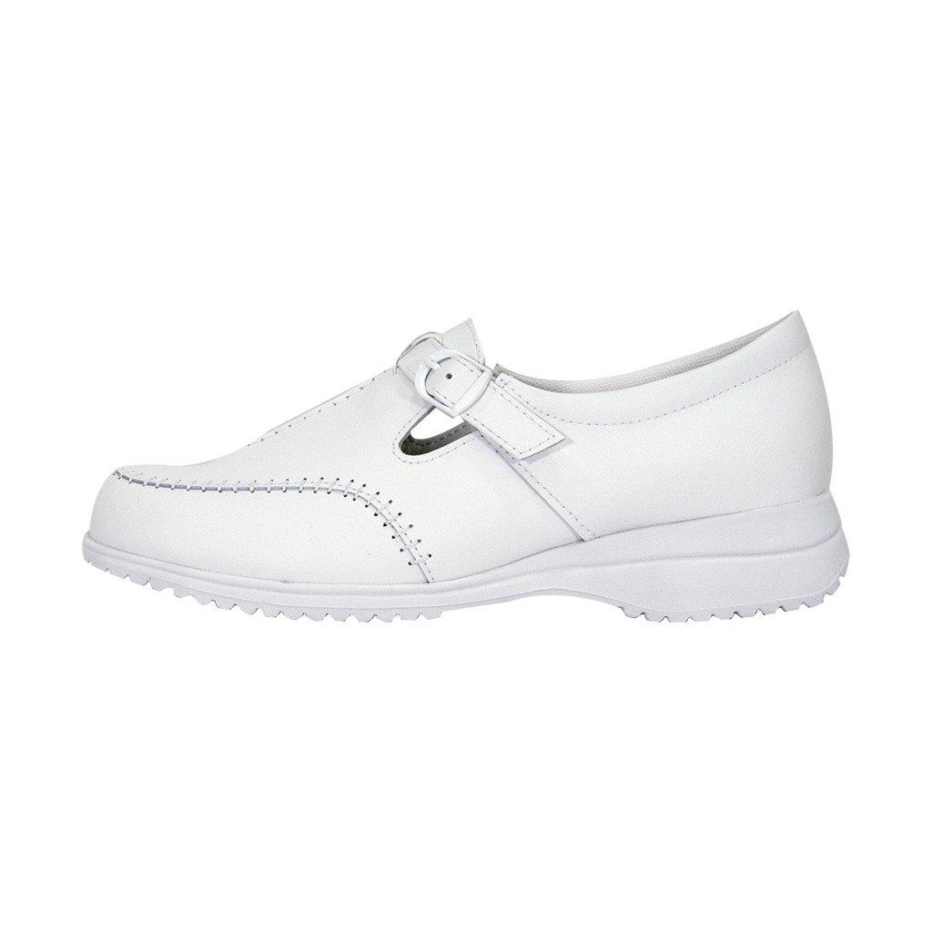 24 Hour Comfort  Lauren Women Wide Width Buckle Comfort Shoes White 11 by 24 Hour Comfort (Image #2)