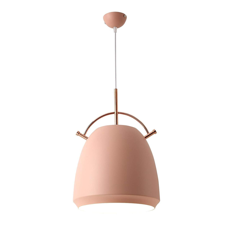 RMXMY カラーマカロンモダンなミニマリストの寝室の錬鉄製のランプクリエイティブシングルヘッドパーソナリティレストランライトノルディックシングルヘッドランプ(ピンク) (色 : B) B07S1VH4NH B