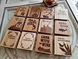 Cheap Pun Title Book Shaped Coasters (Set of 4)