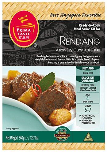 Prima Taste Rendang Curry Sauce Kit, 12.7-Ounce Box
