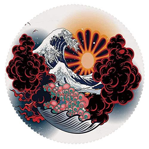 American Round Tablecloth [ Tattoo Decor,Brave Native American