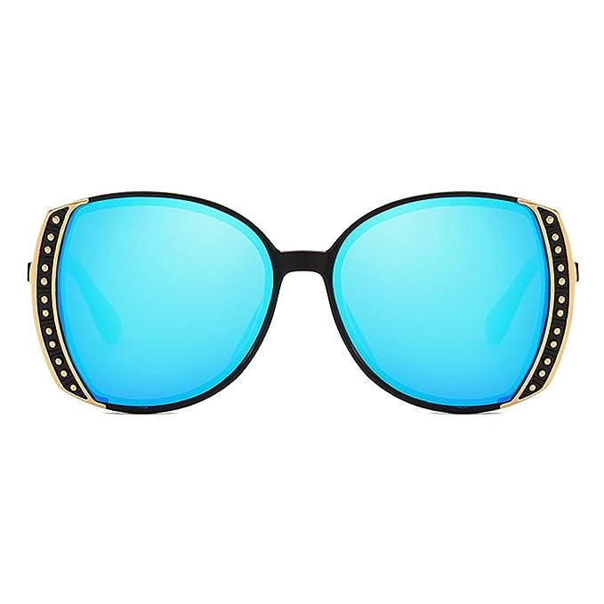 c6db225287 GAMT Butterfly Polarized Sunglasses For Women Uv400 Square Large-Frame  Glasses Black Frame Blue Lens