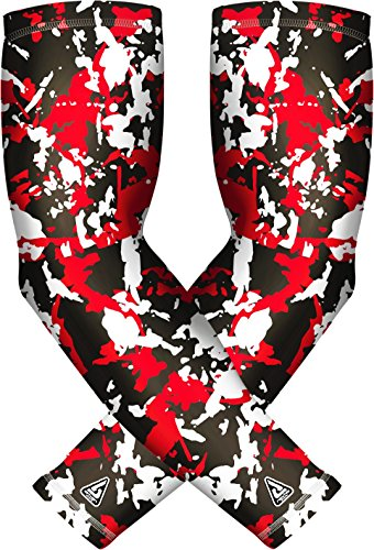 (1 Pair) Pro-Fit Athletic Arm Sleeves for Men Women Youth. Sports Compression, UV Protection… 20+ Designs – DiZiSports Store