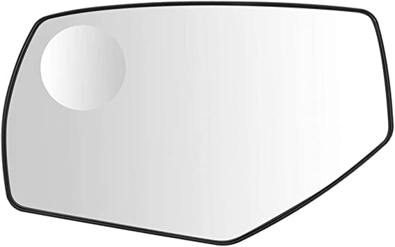 Power Mirror Glass with Backing Plate Spotter Driver Side Left LH for GM Pickup