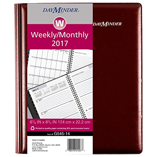 Acco DayMinder Weekly / Monthly Planner 2017, Executive, ...