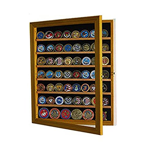 56-Coin-Natural-Finish-Display-Case-Cabinet-Holder-Shadow-Box-with-Glass-Door