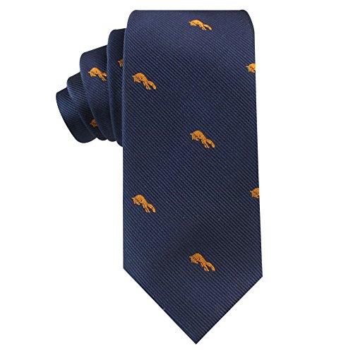 - Fox Skinny Tie Mens Necktie Animal Tie | Orange Fox | Birthday Gift for Guys (Orange Fox)