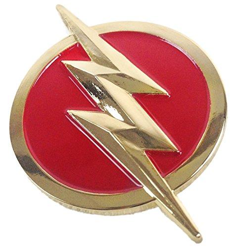 (DC Comics The Flash Logo Metal/Enamel Pin)