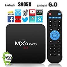 2017 Newest Model GooBang Doo MXQ Pro Android 6.0 TV Box Amlogic S905X 64 Bits Quad Core and Supporting 4K (60Hz) Full HD /H.265 /WiFi 2.4GHz