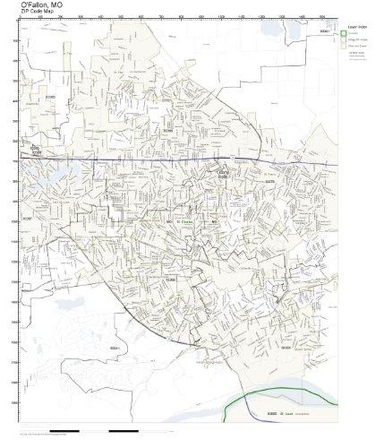 (ZIP Code Wall Map of O'Fallon, MO ZIP Code Map)
