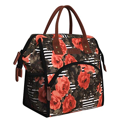Lunch Bags for Women,Wide-Open and Large Capacity Insulated Cooler Tote Bag,heat insistant Aluminum foil storage, Nylon Durable Waterproof for Work Picnic school