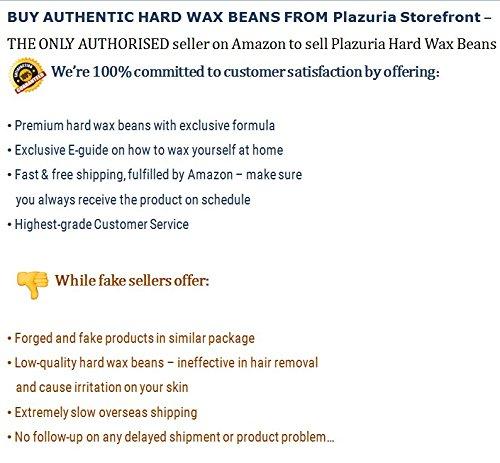 Plazuria Hair Removal Hard Wax Beans Stripless Full Body