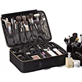 "ROWNYEON Portable EVA Makeup Case / Professional 16.14""/ Make Up Artist Organizer Bag (Large Black)"