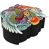 "PTC Pacific Giftware Phoenix Flaming Bird Tattoo Pattern Stash Candy Jewelry Trinket Offering Box Statue Figurine, 5.75"" H"