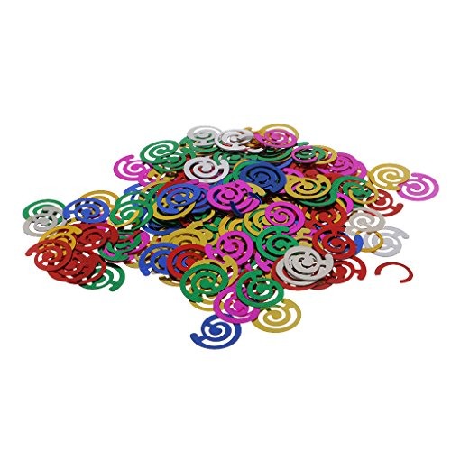 MonkeyJack Bag of 15g Colorful Sparkle Scatter Spiral Confetti Wedding Party Balloons Decor