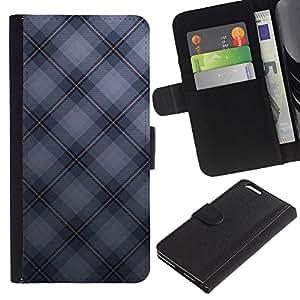 Ihec-Tech / Flip PU Cuero Cover Case para Apple Iphone 6 PLUS 5.5 - Texture Checkered