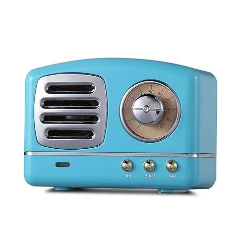 Altavoz Bluetooth Mini móvil, Retro Vintage Mini Bluetooth Speaker, Bajos Pesadas Nostalgiques 3D estéreo Surround HiFi Efectos sonoros, Soporte Disco ...