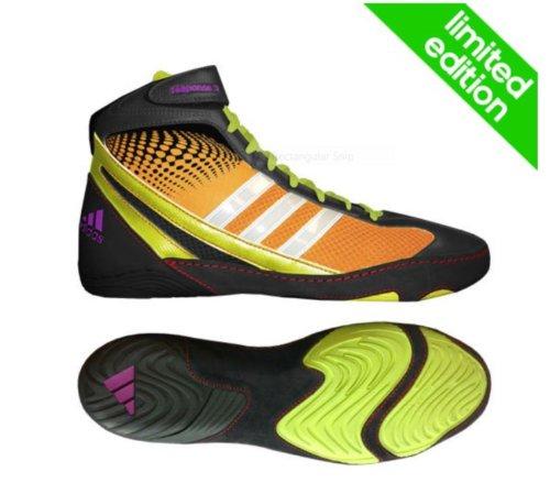 Adidas Response 3.1 Scarpe Wrestling - Bahia Arancione / Nero / Bahia Glow - 11