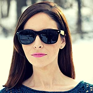 Polarized Bamboo Sunglasses for Men & Women with 100% UV Block by Eye Love